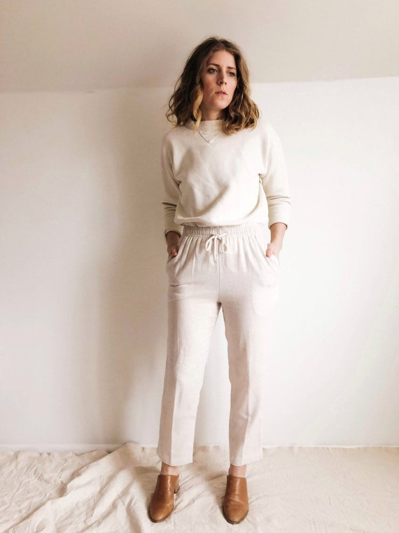 Vintage 90s Linen Pants : XS / S