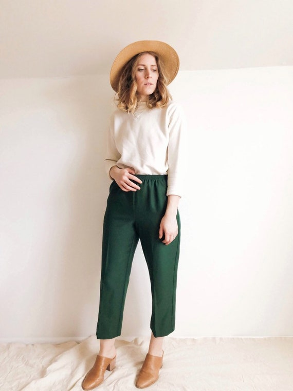 90s Green Pants : S / M