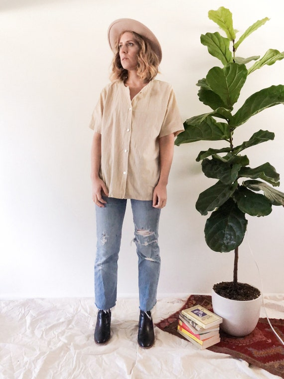 Vintage Linen Tunic // M/L
