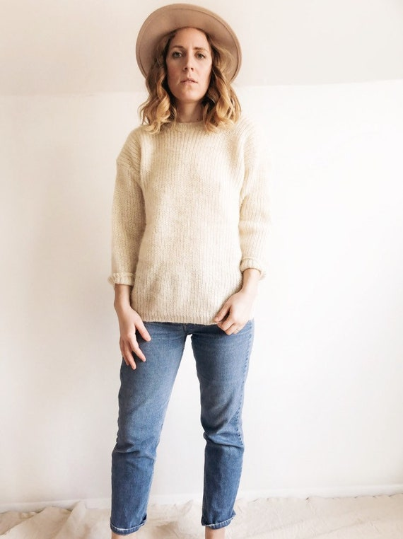 1970s Mohair Oversized Sweater / M