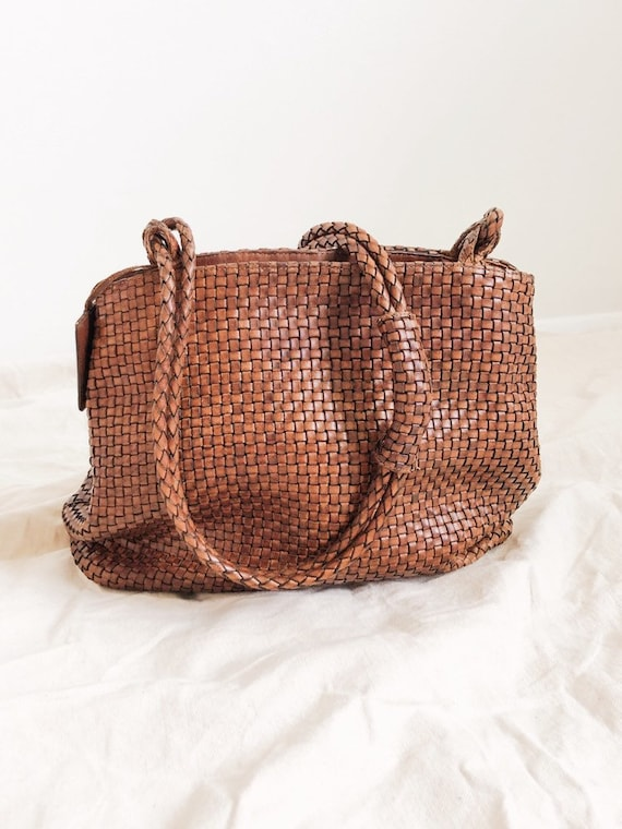 Vintage Woven Leather Bag