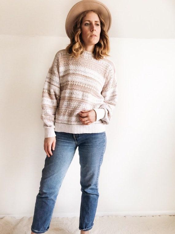 Vintage 1980s Stripe Sweater // M