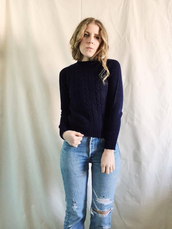 Vintage Indigo Sweater // Small