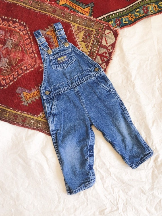 Vintage OshKosh Denim Overalls / 2T