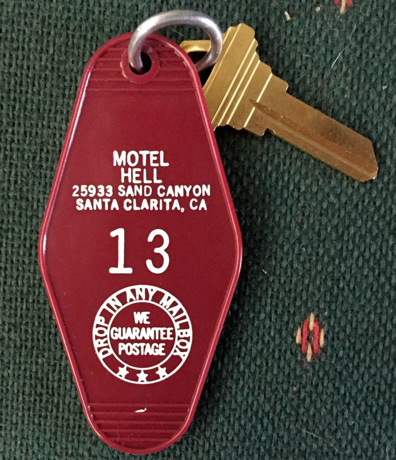 Sale  Cult Classic Motel Hell Keychain Vintage Horror Movie image 0