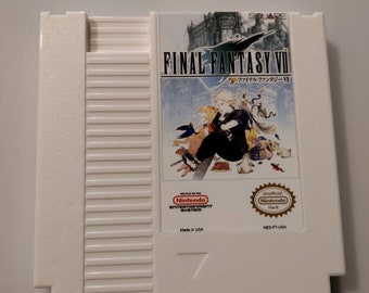 Final Fantasy 7 Advent Children Reproduction NES Cartridge W Dust Cover NEW