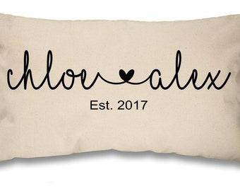 Personalised Cushion Pillow Wedding Engagement Anniversary Valentine Love Gift