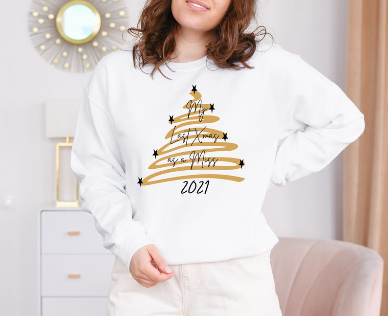 My Last Xmas as a Miss 2021  bride to be Christmas Fiancee image 1