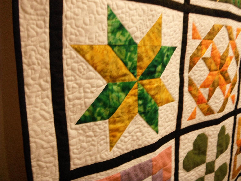 Variété de sampler matelassé muraux ou courtepointe, coton, prêt à être expédié