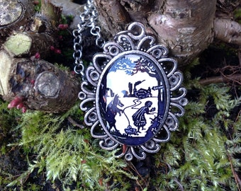 Little Red Riding hood Silhouette Pendant