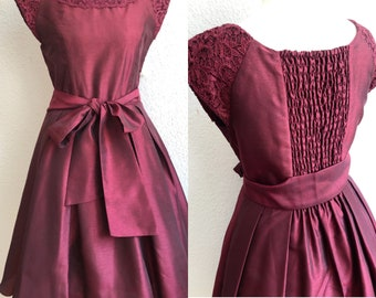 Axes Femme Red Party Dress with Belt