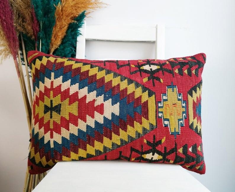 Vintage kilim pillow 40x60cm / 16x24 inch image 0