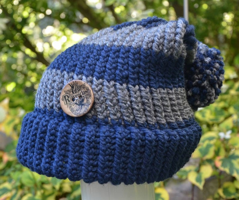 6effce6fe8daa Harry Potter Ravenclaw Adult Knit Hat Two Styles