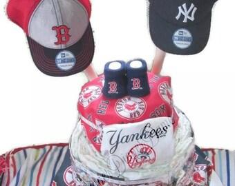 baseball diaper cake- house divided baby gift