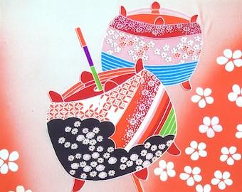 Japanese Silk  Kimono Fabric - Bobbins (Sample)
