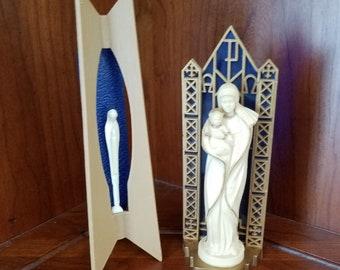Mid Century Virgin Mary/ Madonna Statuary