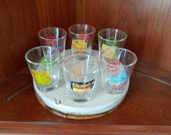 Cedar Point Roller Coaster Glass Shot Glasses Set of Six