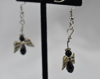 Earrings - dark angel dangle earrings