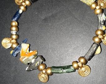 Chain Collier Unikat foam coral Bali silver sterling silver colort-mixx-DESIGN