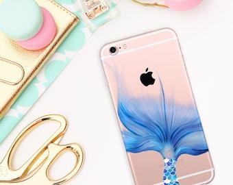 591556fa060 Mermaid case, Phone Case, Transparent, iPhone 6/6S case, iPhone 6 plus/6S  plus case, iPhone 7 case, Aquarell case