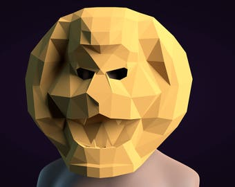 Lion Papercrafts 3d Pattern Mask PDF Paper DIY Origami Templates PaperCraft Template Ho To