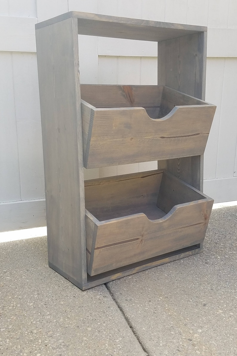 Custom Rustic Display Shelf Unit  Weathered Gray Pine  Toy image 0