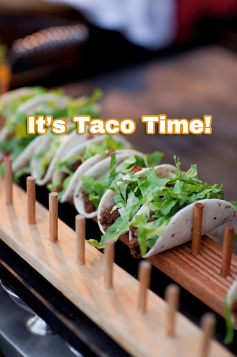 Wood Taco Stand  Taco Holder  Taco Rack  Holds From 3 to 15 image 0