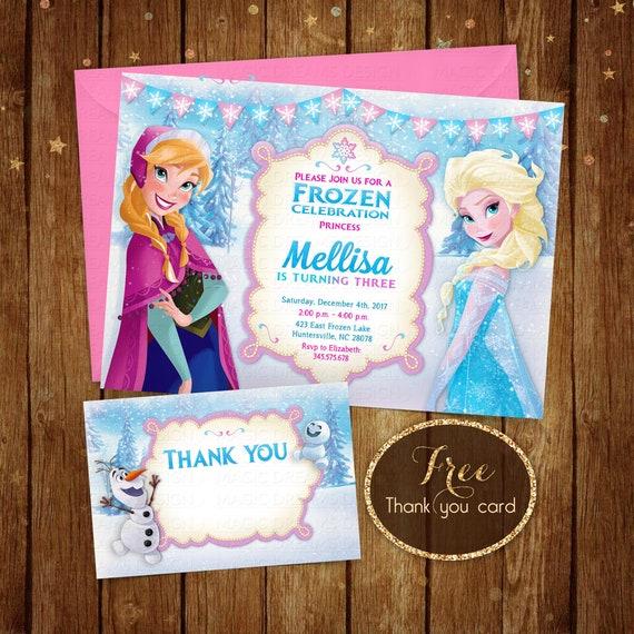 Frozen Birthday Invitation Printable