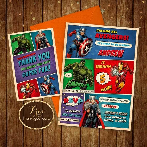 Invitación De Cumpleaños De The Avengers Vengadores Para Imprimir Invitaciones Cumpleaños Vengadores Invitan Fiesta De Cumpleaños Del Super Héroe