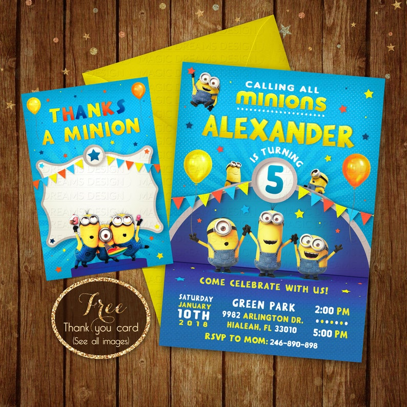 graphic about Minions Invitations Printable identified as Minions Birthday Invitation - Printable Minion Invites - Minion Birthday Invite - Boy Minion Invite - Minions Birthday - Minion Card