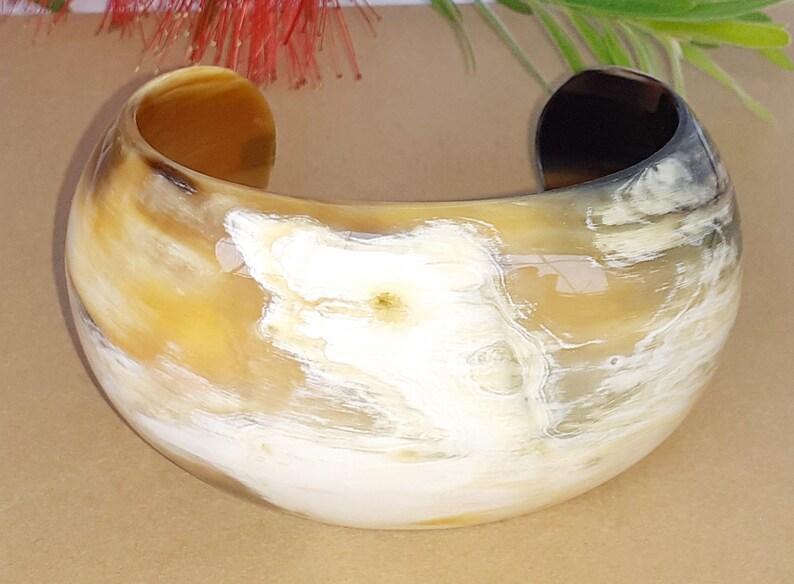 Buffalo horn bracelet  Horn cuff  Buffalo horn jewelry  image 0