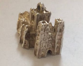 Sterling silver European cathedral charm vintage # S 861