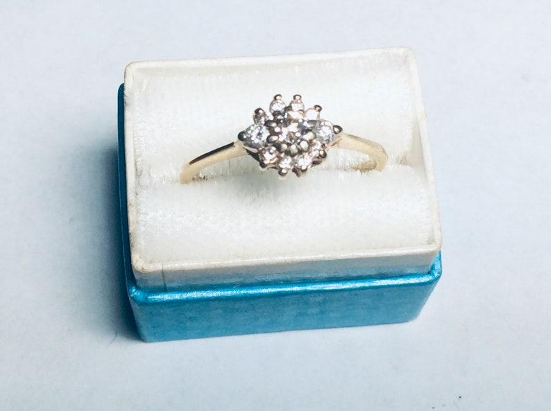 14K yellow gold and diamond statement ring size 6 34  #G112