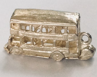 Sterling silver London England double decker bus charm vintage # S 895