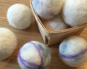Natural Dryer Balls - Set of 3 - 75%Alpaca; 25/Wool - Cruelty Free + Eco Friendly Natural Fibers