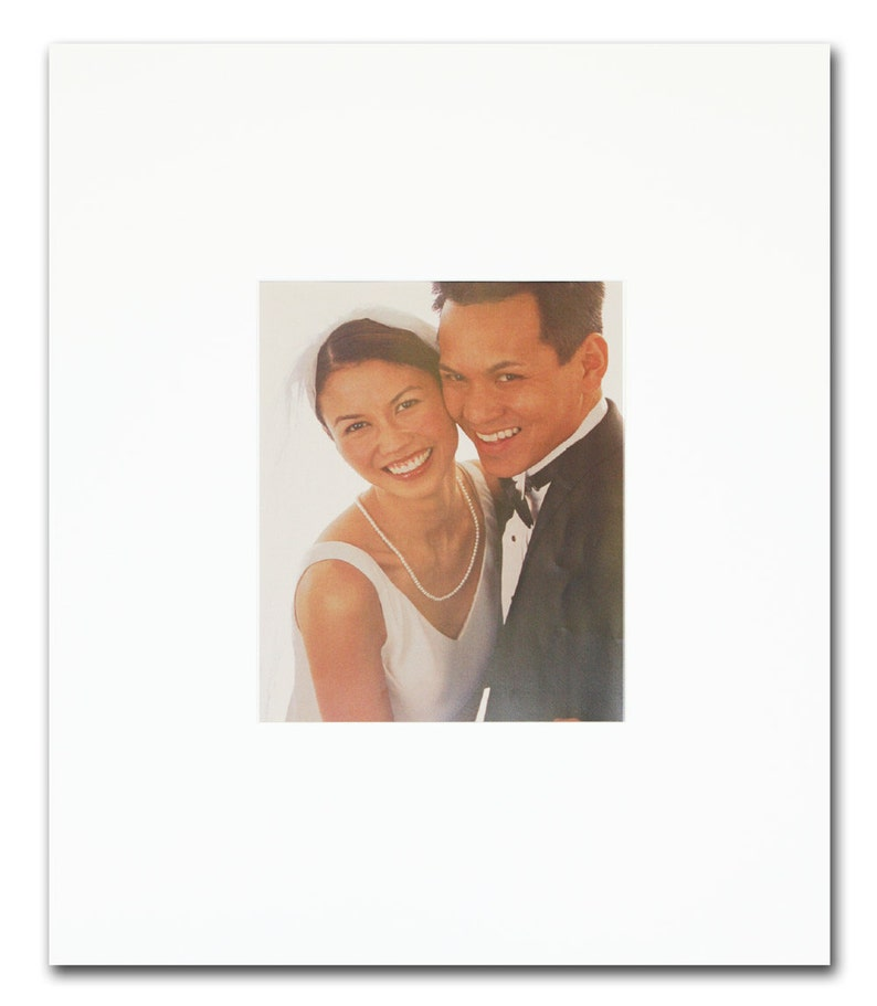 White or Ivory Signature Mat Personalization Wedding Guest image 0
