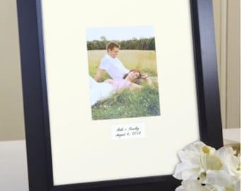 Contemporary Signature Mat, White or Ivory Mat, Personalization, Framed, Wedding Guest Book Alternative, Autograph Mat, Signature Board