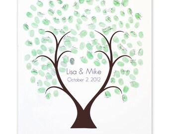 Thumb Tree Guest Book Love - Signature Mat, Wedding Guest Book, Wedding Guest Book Alternative
