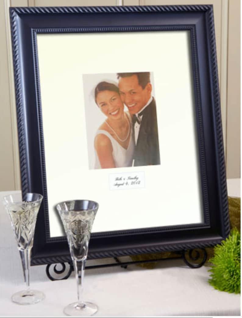 Elegant Signature Mat White or Ivory Mat Personalization image 0