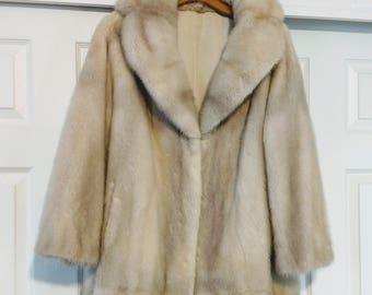 20% Off Real Mink Jacket/XL Mink Fur Jackets/ Pale Mink Fur Coat/90's Real Fur Jacket/A-Line Mink Jacket/Winter Fur Coat/ Gift For Her/421