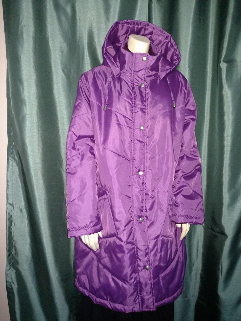 b217ebbdf392b Vtg Plus Size PufferPurple Puffer Winter Coat Lightweight Coat