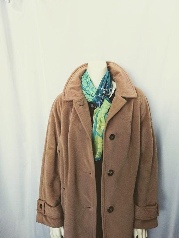 Vtg Women Camel Cashmere Light Coat,Classic Short