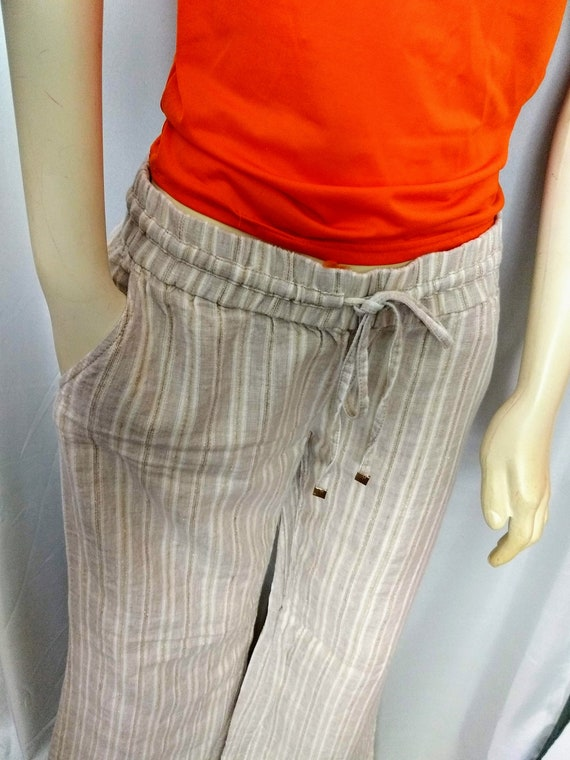 GUESS by Marciano Pants,Summer Linen Pants,Wide Le