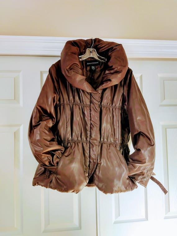 80e8a772c7935 VTG Size 1X Puffer Jacket Brown Puffer Jacket Quilted Winter