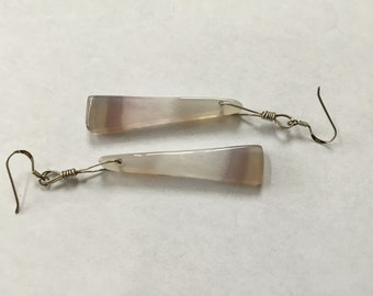 Cut geode  drop earrings  with sterling drop wires and ear hooks.