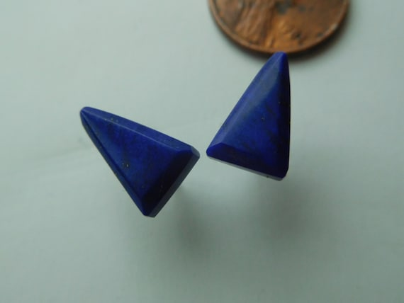 Blue Triangle studs/Small lapis studs/Girls jewelry/ Womans jewelry/Lapis Lazuli  jewelry
