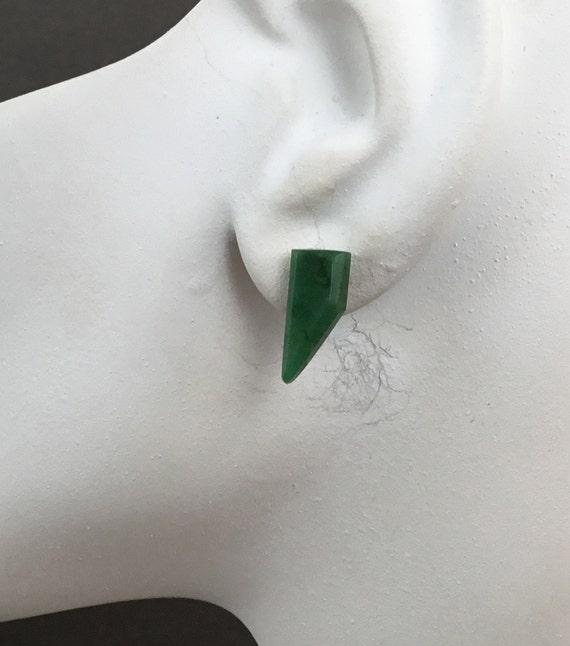 Green stud earrings/ stone studs/ small green aventurine  studs/earrings for women/girls jewelry