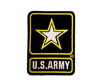 Embroidered Golden Army military Insignia bike Iron On Patches Stong n Cool