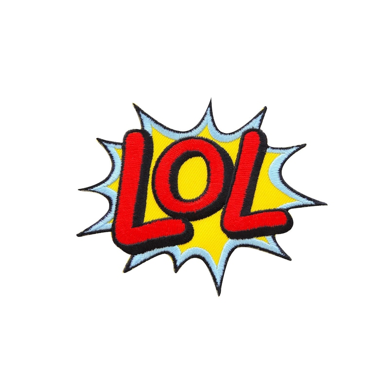 LOL Sound Funny Laugh DC Marvel Action Effect Wording Embroidered Iron On  Patch Heat Seal Applique Sew On Patches Wholesale Price