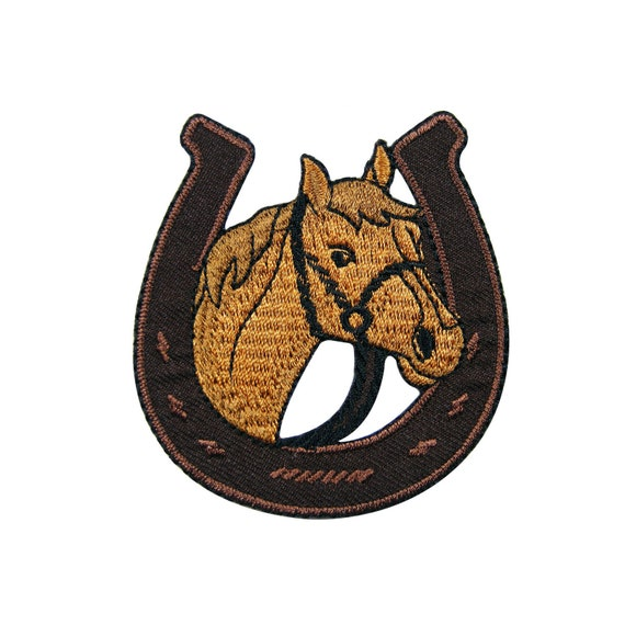 Brown Embroidered Iron On Patch Seal